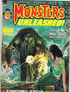 MONSTERS UNLEASHED #3 - 1973 - Neal Adams, Gray Morrow Man-Thing, Tom Sutton