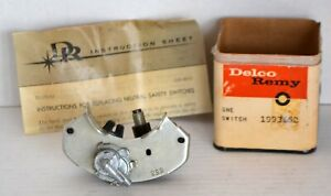 1964 Cadillac NOS Neutral Safety Switch Delco In Original Box, Instruction Sheet