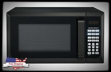 Black Stainless Steel Microwave Oven 0.9 Cu. Ft. 900 W Home Kitchen Counter Top
