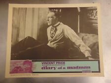 Vincent Price Diary Of A Madman Original Set of 8 Lobby Cards #M9926