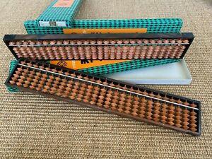 Japanese Antique Soroban 1970s boxed original packaging desk art abacus