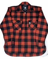 NZ Swanndri Mens Extreme Ranger Pure Wool Bush Shirt Red Black Large | FREE Post