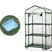 3 TIER MINI GREENHOUSE COVER PROTECTOR SPARE REPLACEMENT ROLL UP FOR GARDEN