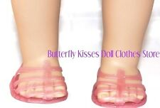 Soft Pink Glitter Jelly Sandals 18 in Doll Clothes Fits American Girl