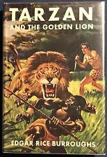 Tarzan And The Golden Lion  Edgar Rice Burroughs Grosset & Dunlap Hardback w/ DJ