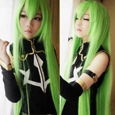 Code Geass C.C. Cosplay Perruque Wig Gold-Vert Green 80 cm for Fête