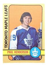 1972-73 Paul Henderson Toronto Maple Leafs 126 OPC O-Pee-Chee Hockey Card P169