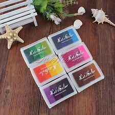 6pcs/Lot Multi-Colour Ink Pad for Paper Scrapbooking Wood Fabric Card Making DIY