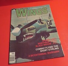 1974 - 1982 WINGS MAGAZINE LOT OF 6  SPIDER LADY P-51 MUSTANG BIRTH B-17 & MORE