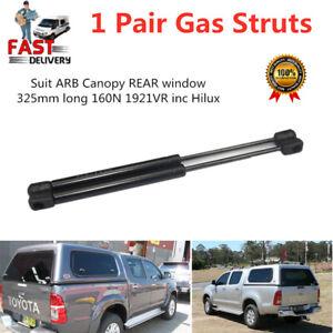 Pair of Gas Struts For ARB Canopy REAR window 325mm long 160N 1921VR inc Hilu