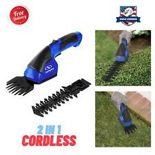 2 in 1 Cordless Grass Hedge Trimmer Shrubber Shear Bush Electric Garden Tools