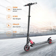 Megawheels Folding Electric Scooter 250W Aluminum Portable Red Teens E-Scooter