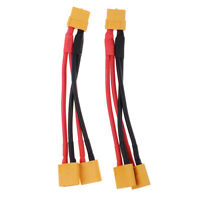 2pcs XT60 Male to Dual Female Parallel Connector Y Splitter Cable Wire 14AWG