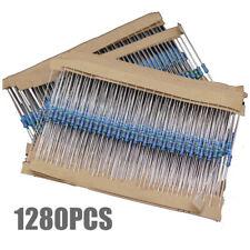 1280pcs 64 Values 1 Ohm 10m Ohm 14w Metal Film Resistors Assortment Kit Kd
