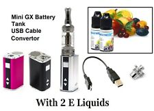 Electronic e Shisha MINI GX Variable e Cigarette Battrey MOD USB + 2 E Liquids