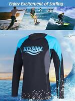 Men's Quick-Dry Rash Guards Swimwear Tops Diving Surfing Shirt Swimsuits UPF 50+
