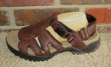 TEVA Mens Size 11 Brown Leather Waterproof Hiking Outdoors Sport Sandals 6553