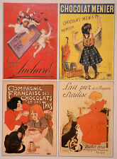 Set of 4 RARE Very Nice FRENCH POSTERS ART PRINTS Fits 8