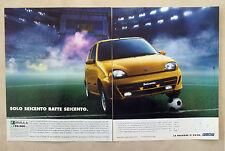 C118-Advertising Pubblicità-1998- FIAT SEICENTO LA PASSIONE CI GUIDA