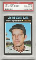 SET BREAK -1971 TOPPS # 421 JOHN STEPHENSON,  PSA 8 NM-MT, ANGELS,  L@@K !