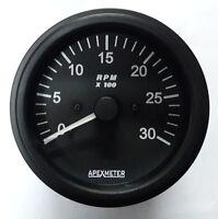 12 Tachometer//Hourmeter 0-14000 RPM Ignition Coil Driven Gauge Black Bezel