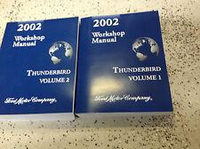 2002 Ford Thunderbird Service Repair Shop Workshop Manual Set BRAND NEW