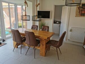A Chunky Country Rustic Style Dining Table