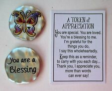 r Butterfly You're a blessing TOKEN OF APPRECIATION Pocket charm Ganz volunteer