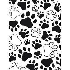 Darice EMBOSSING FOLDERS 1218-03 Paw Print Cat Dog Pets Craft 4.25 X 5.75 Cards