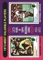 1975 Topps Mini Oakland Athletics Card #211 Reggie Jackson/Pete Rose - NM-MT
