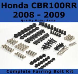 Complete Fairing Bolt Kit body screws for Honda CBR 1000 RR 2008 2009 Stainless