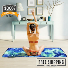 Bubble Kiss Blanket Color Tie Dye Blanket Yoga Mat Non-slip Towel Throw Blanket