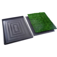 Dog Cat Training Pad Pet Pee Indoor Toilet Puppy Potty Grass Mat Turf Patch