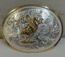 Montana Silversmiths Mens Belt Buckle w/ Bull Rider Style-2120