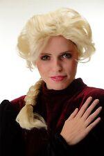 Parrucca donna Carnevale Biondo chiaro pancione intrecciato Treccia toupierter