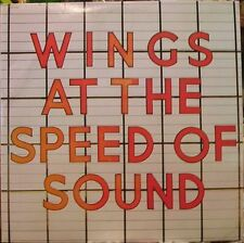 "WINGS AT THE SPEED OF SOUND VINYL LP RECORD 12"" w/INNER"