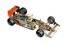 MCLAREN HONDA MP4-4 FORMULA 1 F1 RACE CAR CUTAWAY POSTER PRINT 24x36 HI RES