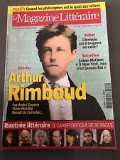 Arthur Rimbaud - Magazine Litteraire Septembre 2009