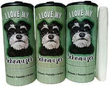 I Love my Schnauzer Refillable Tissue Tube with 1 Refill package