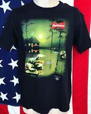 Rare Vintage 1995 Stanley Desantis Budweiser Beer Frog Single Stitch T-Shirt L