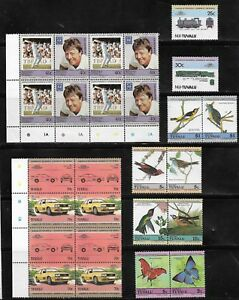 LARGE COLLECTION OF TUVALU STAMPS - BLOCKS MNH
