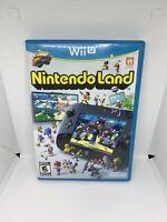 Nintendo Land (Wii U, 2012) - GAME DISC, ORIGINAL CASE, & MANUAL (TESTED)