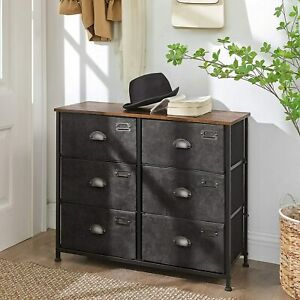Industrial Chest Drawers Rustic Metal Furniture Vintage Storage Side Cabinet
