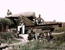 African American Troops w/ Cannon, Fort Massac, Miss. -1866 Historic Photo Print