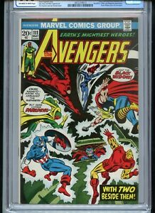 Avengers #111 CGC 9.0 OWTW Pages Black Widow joins