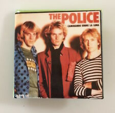 Vintage 1980s THE POLICE band photo button Walking On The Moon pin badge Sting
