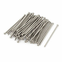 M2 x 50mm 304 Stainless Steel Crosshead Phillips Round Head Screws Bolt 60pcs