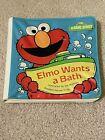 """VTG Sesame Street """"Elmo Wants a Bath"""" Bath Book"""