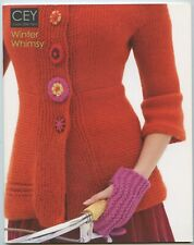 Winter Whimsy - Cey Classic Elite Yarns Knitting Pattern Book #9104 - 14 Designs
