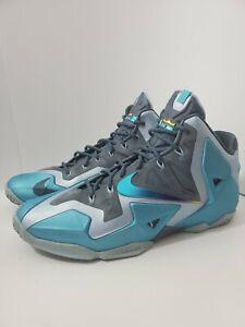 Nike LEBRON 11 Mens Size 12 XI Armory Slate Gamma Blue 2013 616175 401 Sneakers